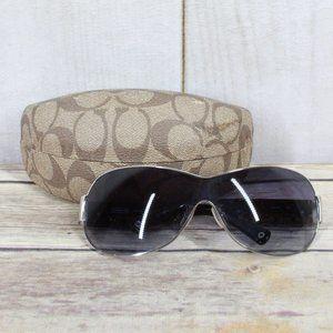 COACH Leanne S566 Chrome Sunglasses Size OS